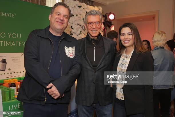 Jeff Garlin Michael Buffer and Christine Prado attend HBO LUXURY LOUNGE Presented By Obliphica Professional Day 2 on January 5 2019 in Beverly Hills...