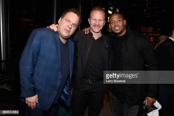 Jeff Garlin Morgan Spurlock and Marlon Wayans attends the Entertainment Weekly and PEOPLE Upfronts party presented by Netflix and Terra Chips at...