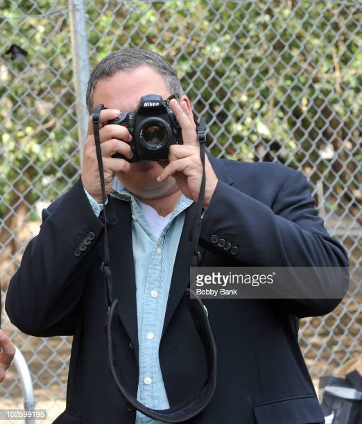 Jeff Garlin on location for Curb Your Enthusiasm on the streets of Manhattan on July 2 2010 in New York City
