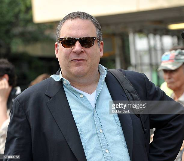 """Jeff Garlin on location for """"Curb Your Enthusiasm"""" on the streets of Manhattan on July 2, 2010 in New York City."""