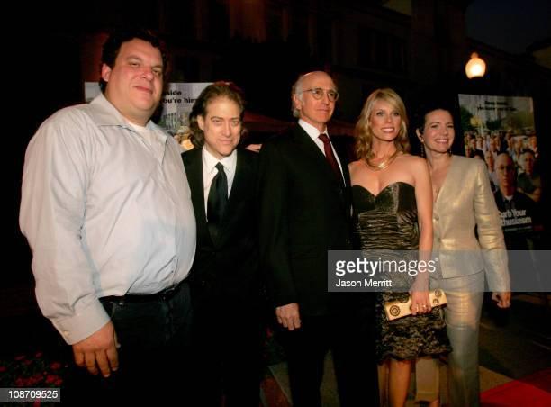 Jeff Garlin Richard Lewis Larry David Cheryl Hines and Susie Essman