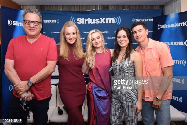 Jeff Garlin Wendi McLendonCovey AJ Michalka Hayley Orrantia and Sean Giambrone attend SiriusXM's Entertainment Weekly Radio Broadcasts Live From...