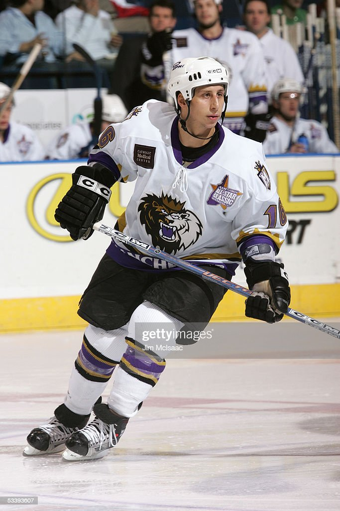 Jeff Giuliano #16 of the Manchester Monarchs skates during a American Hockey League game against the Bridgeport Sound Tigers at the Arena at Harbor Yard on December 10, 2004 in Bridgeport, Connecticut. The Sound Tigers won 4-2.