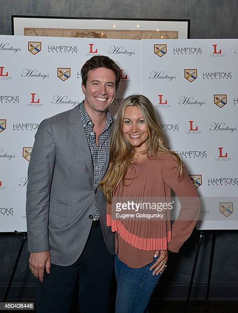 Jeff Glor and Nicole Glor attend the Hamptons Magazine Celebration of The Artists Writers Celebrity Softball Game Kickoff at Hardings on June 10 2014...