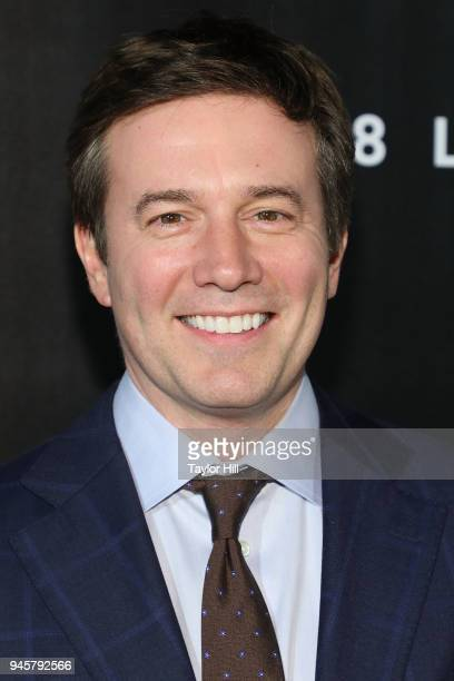 Jeff Glor attends the 2018 The Hollywood Reporter's 35 Most Powerful People In Media at The Pool on April 12 2018 in New York City