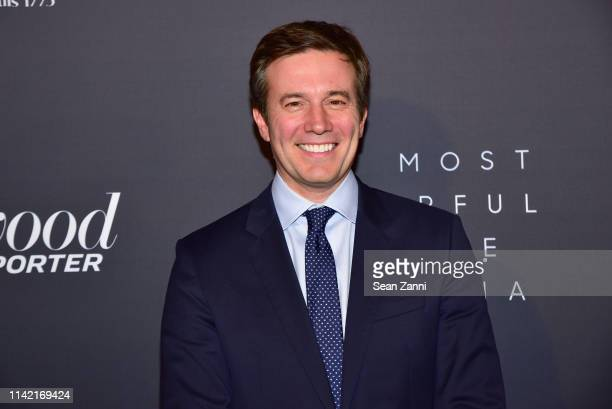 Jeff Glor attends The Hollywood Reporter Celebrates The Most Powerful People In Media at The Pool on April 11 2019 in New York City
