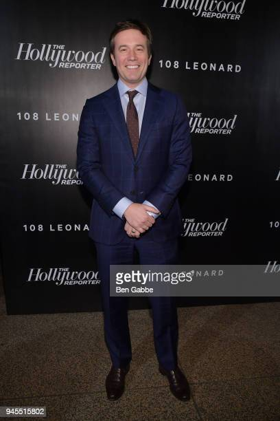 Jeff Glor attends The Hollywood Reporter's Most Powerful People In Media 2018 at The Pool on April 12 2018 in New York City