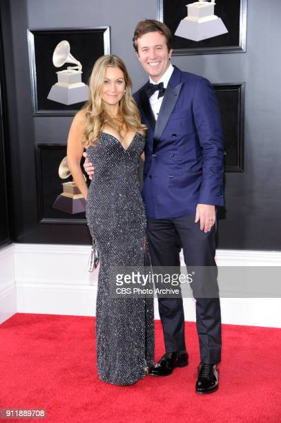 Jeff Glor on the red carpet at THE 60TH ANNUAL GRAMMY AWARDS broadcast live on both coasts from New York City's Madison Square Garden on Sunday Jan...