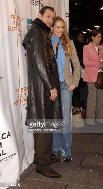 Jeff Goldblum and Elizabeth Berkley during 4th Annual Tribeca Film Festival 'Special Thanks To Roy London' World Premiere at Regal Battery Park in...