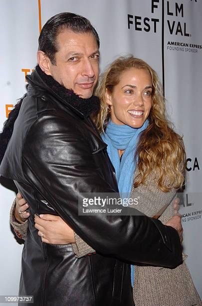 Jeff Goldblum and Elizabeth Berkley during 4th Annual Tribeca Film Festival - Special Thanks To Roy London World Premiere - Arrivals at Regal Cinemas...