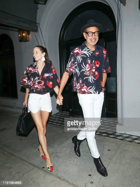 Jeff Goldblum and Emilie Livingston are seen on June 22, 2019 in Los Angeles, California.