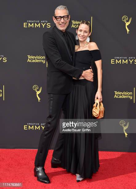 Jeff Goldblum and Emilie Livingston attend the 2019 Creative Arts Emmy Awards on September 14, 2019 in Los Angeles, California.
