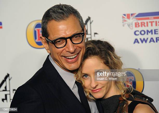 Jeff Goldblum and Emilie Livingston attend the British Comedy Awards at Fountain Studios on December 16 2011 in London England