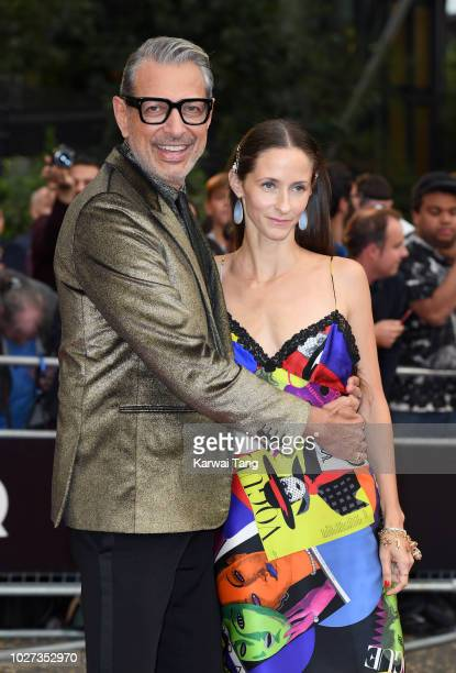 Jeff Goldblum and Emilie Livingston attend the GQ Men of the Year Awards at Tate Modern on September 5 2018 in London England