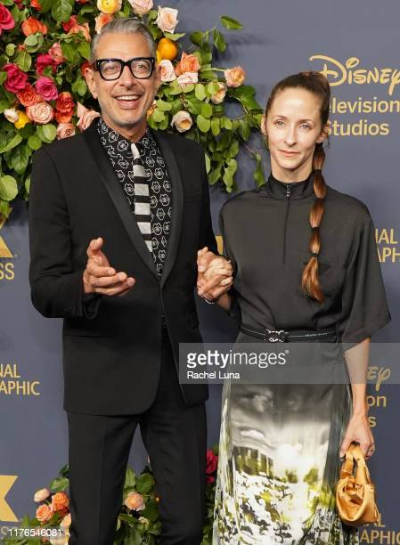 Jeff Goldblum and Emilie Livingston attend the Walt Disney Television Emmy Party on September 22, 2019 in Los Angeles, California.