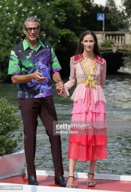 Jeff Goldblum and Emilie Livingston is seen during the 75th Venice Film Festival on September 1 2018 in Venice Italy