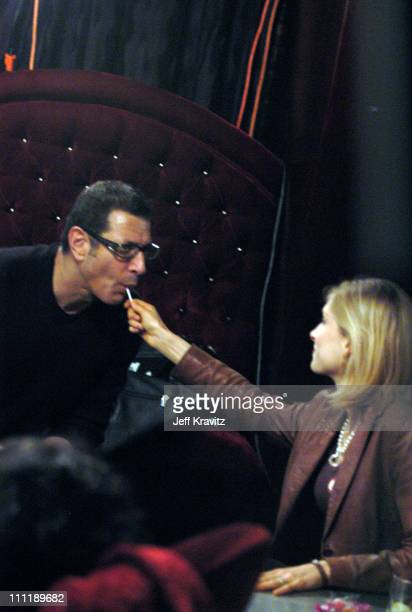 Jeff Goldblum and fiancee Catherine during Jeff Goldblum and the Bonedaddies Live May 19 2004 at Joya in Beverly Hills California United States