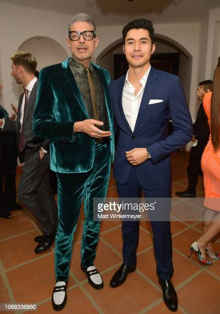 Jeff Goldblum and Henry Golding attend the 2018 GQ Men of the Year Party at a private residence on December 6 2018 in Beverly Hills California