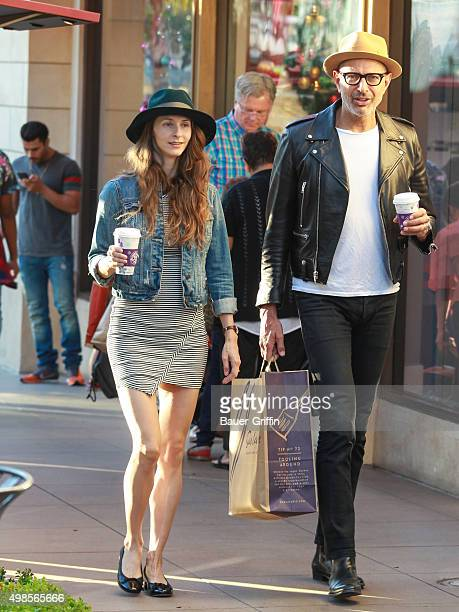 Jeff Goldblum and his wife Emilie Livingston are seen on November 23 2015 in Los Angeles California
