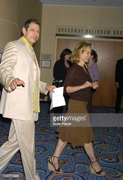 Jeff Goldblum and Jessica Lange during The 71st Annual Drama League Awards Arrivals at Marriott Marquis Hotel in New York City New York United States