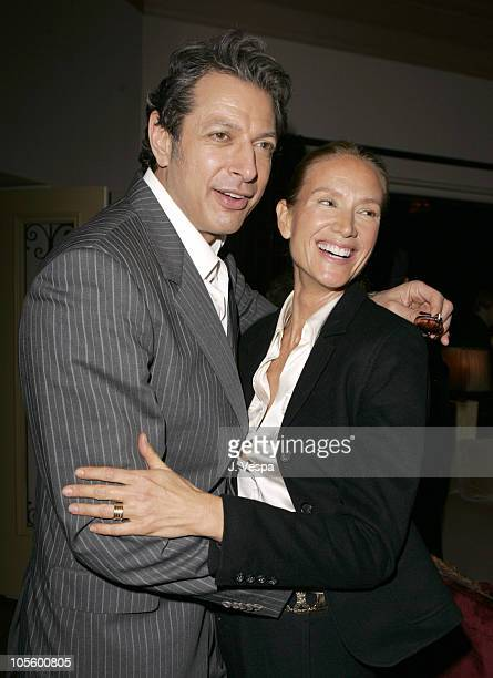 Jeff Goldblum and Kelly Lynch during Oceana Tribute to Sam Waterston December 14 2005 at Private Residence in Los Angeles California United States