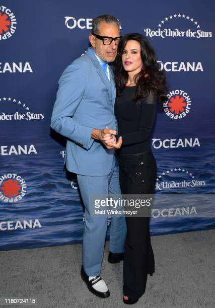 """Jeff Goldblum and Keri Selig attend Oceana's Fourth Annual """"Rock Under The Stars"""" Featuring The Red Hot Chili Peppers on October 12, 2019 in..."""