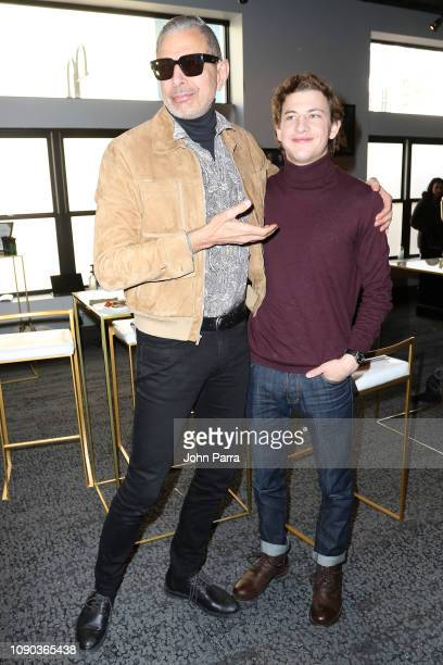 Jeff Goldblum and Tye Sheridan from The Mountain attend The Hollywood Reporter 2019 Sundance Studio At Sky Strada Park City on January 27 2019 in...