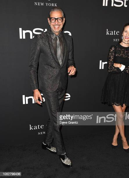 Jeff Goldblum arrives at the 2018 InStyle Awards at The Getty Center on October 22 2018 in Los Angeles California