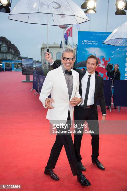 Jeff Goldblum arrives for the Tribute To 'Jeff Goldblum' And 'Kidnap' Premiere during the 43rd Deauville American Film Festival on September 3 2017...