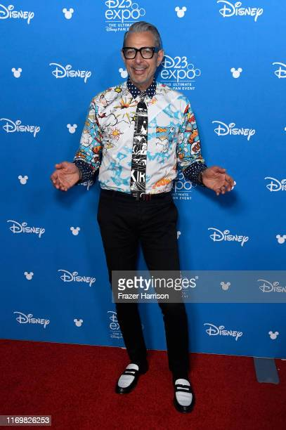 Jeff Goldblum attends Disney+ red carpet at D23 at Anaheim Convention Center on August 23, 2019 in Anaheim, California.