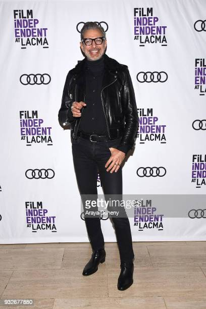 Jeff Goldblum attends Film Independent at LACMA hosts special screening of Isle Of Dogs at Bing Theater At LACMA on March 15 2018 in Los Angeles...