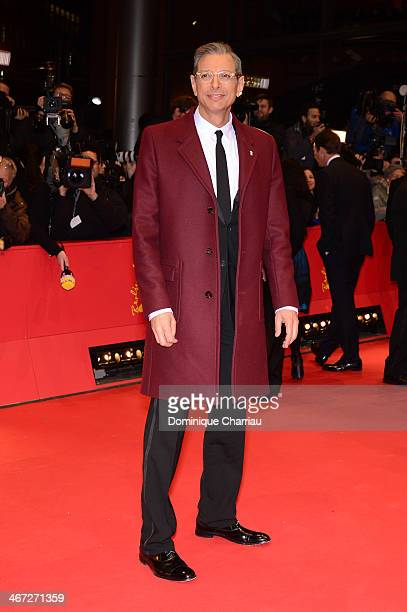 Jeff Goldblum attends 'The Grand Budapest Hotel' Premiere during the 64th Berlinale International Film Festival at Berlinale Palast on February 6...