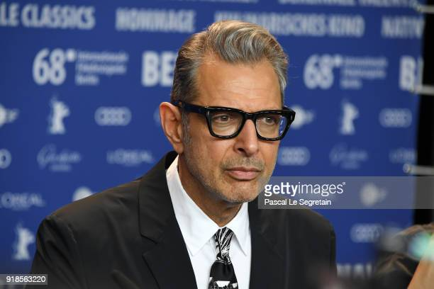 Jeff Goldblum attends the 'Isle of Dogs' press conference during the 68th Berlinale International Film Festival Berlin at Grand Hyatt Hotel on...