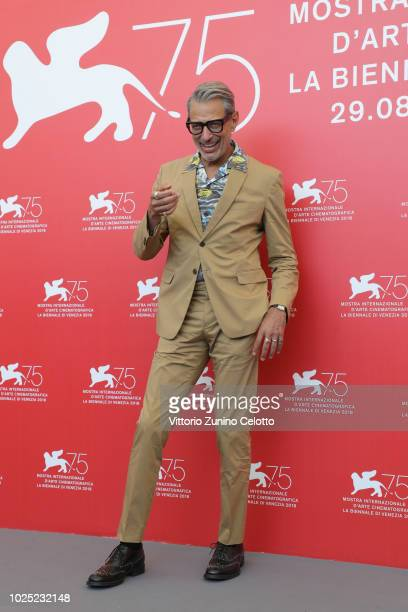 Jeff Goldblum attends 'The Mountain' photocall during the 75th Venice Film Festival at Sala Casino on August 30 2018 in Venice Italy
