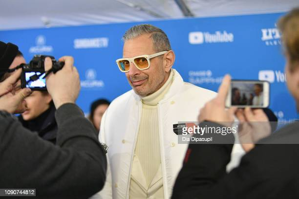 "Jeff Goldblum attends the ""The Mountain"" Premiere during the 2019 Sundance Film Festival at The Marc Theatre on January 28, 2019 in Park City, Utah."