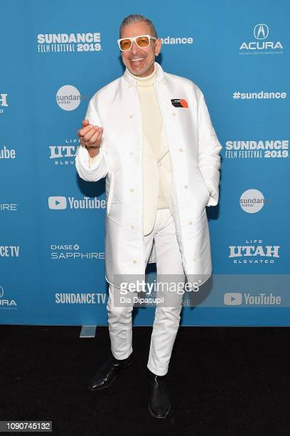 Jeff Goldblum attends the The Mountain Premiere during the 2019 Sundance Film Festival at The Marc Theatre on January 28 2019 in Park City Utah
