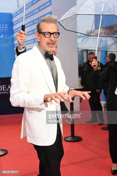 Jeff Goldblum attends the Tribute to Jeff Goldblum and 'Kidnap' Premiere during the 43rd Deauville American Film Festival on September 3 2017 in...