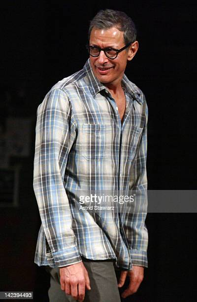 Jeff Goldblum attendsthe curtain call for the Broadway cast change of Seminar at The Golden Theatre on April 3 2012 in New York City