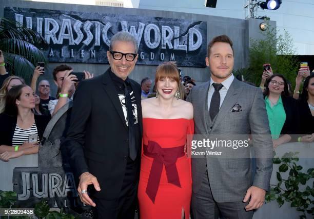 Jeff Goldblum Bryce Dallas Howard and Chris Pratt attend the premiere of Universal Pictures and Amblin Entertainment's 'Jurassic World Fallen...