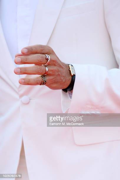Jeff Goldblum detail walks the red carpet ahead of the 'The Mountain' screening during the 75th Venice Film Festival at Sala Grande on August 30 2018...