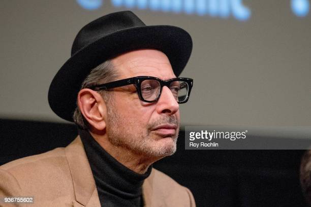 Jeff Goldblum discusses 'Isle Of Dogs' during the New York Screening QA at The Film Society of Lincoln Center Walter Reade Theatre on March 22 2018...
