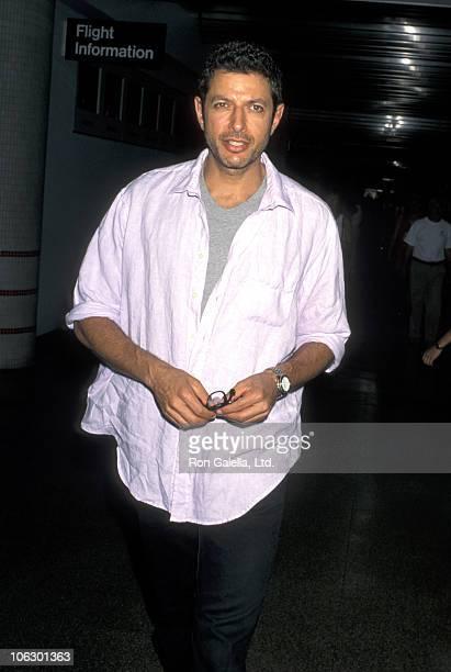 Jeff Goldblum during Jeff Goldblum Sighting at Los Angeles International Airport July 2 1996 at Los Angeles International Airport in Los Angeles...