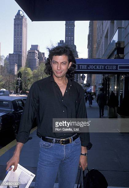 Jeff Goldblum during Jeff Goldblum Sighting at the Ritz Carlton Hotel in New York April 19 1989 at Ritz Carlton Hotel in New York New York United...