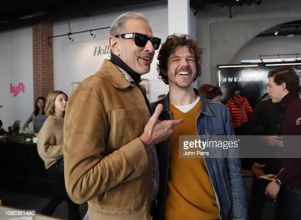 Jeff Goldblum from The Mountain and Andre Hyland from The Death of Dick Long attend The Hollywood Reporter 2019 Sundance Studio At Sky Strada Park...