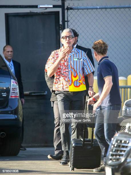 Jeff Goldblum is seen arriving at the 'Jimmy Kimmel Live' on June 18 2018 in Los Angeles California