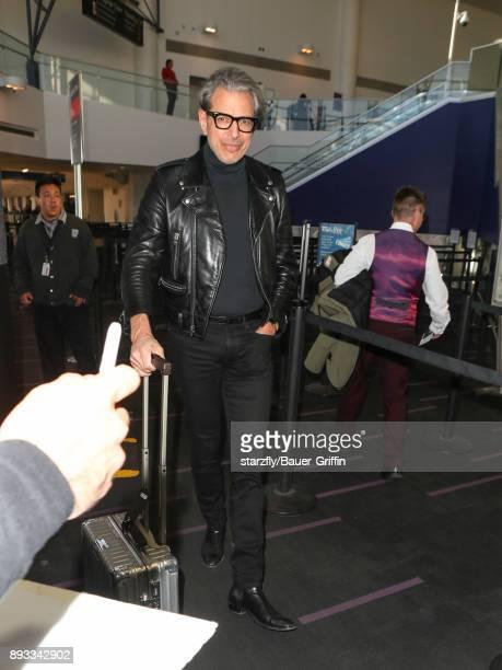 Jeff Goldblum is seen at Los Angeles International Airport on December 14 2017 in Los Angeles California