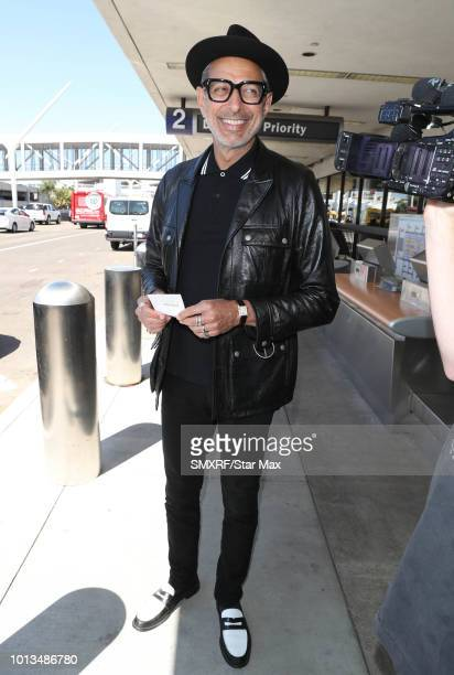 Jeff Goldblum is seen on August 8 2018 in Los Angeles CA