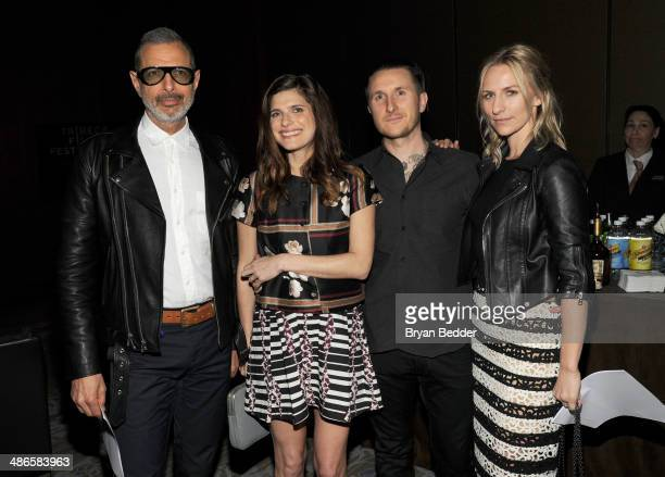 Jeff Goldblum Lake Bell Scott Campbell and Mickey Sumner attend Conrad Hotels Resorts hosts the Tribeca Film Festival Awards Ceremony at Conrad New...