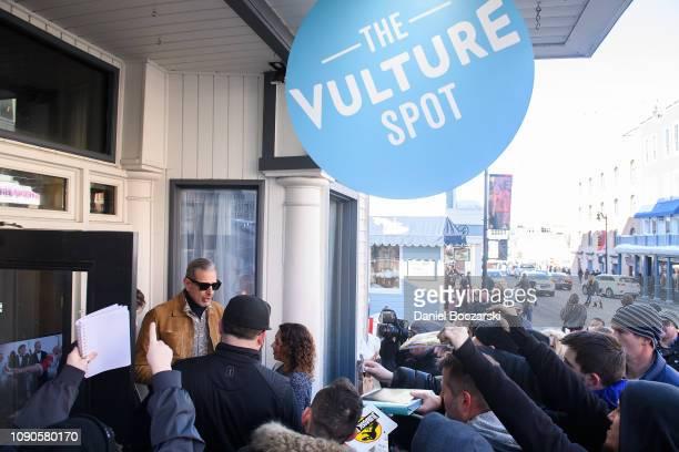 Jeff Goldblum leaves the Vulture Spot during Sundance Film Festival on January 27 2019 in Park City Utah