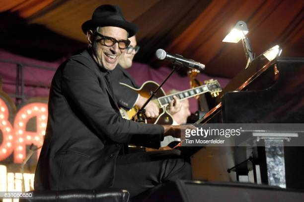 Jeff Goldblum of Jeff Goldblum and the Mildred Snitzer Orchestra performs during the 2017 Outside Lands Music and Arts Festival at Golden Gate Park...